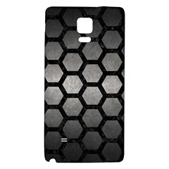 HEXAGON2 BLACK MARBLE & GRAY METAL 1 (R) Galaxy Note 4 Back Case