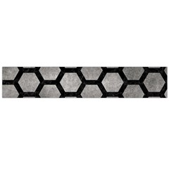 HEXAGON2 BLACK MARBLE & GRAY METAL 1 (R) Flano Scarf (Large)