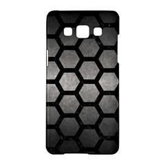 HEXAGON2 BLACK MARBLE & GRAY METAL 1 (R) Samsung Galaxy A5 Hardshell Case