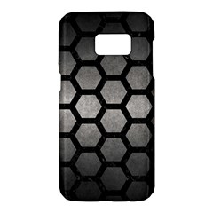 HEXAGON2 BLACK MARBLE & GRAY METAL 1 (R) Samsung Galaxy S7 Hardshell Case