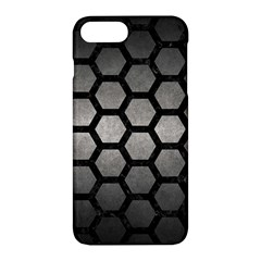 Hexagon2 Black Marble & Gray Metal 1 (r) Apple Iphone 7 Plus Hardshell Case by trendistuff