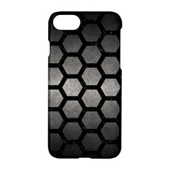 HEXAGON2 BLACK MARBLE & GRAY METAL 1 (R) Apple iPhone 7 Hardshell Case