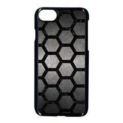 HEXAGON2 BLACK MARBLE & GRAY METAL 1 (R) Apple iPhone 7 Seamless Case (Black)