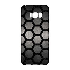 HEXAGON2 BLACK MARBLE & GRAY METAL 1 (R) Samsung Galaxy S8 Hardshell Case