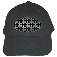 Puzzle1 Black Marble & Gray Metal 1 Black Cap by trendistuff