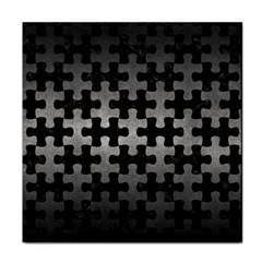 Puzzle1 Black Marble & Gray Metal 1 Tile Coasters by trendistuff