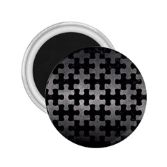 Puzzle1 Black Marble & Gray Metal 1 2 25  Magnets by trendistuff