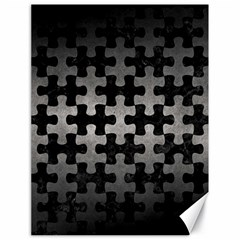 Puzzle1 Black Marble & Gray Metal 1 Canvas 18  X 24   by trendistuff