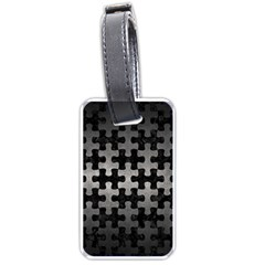 Puzzle1 Black Marble & Gray Metal 1 Luggage Tags (two Sides) by trendistuff