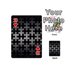 PUZZLE1 BLACK MARBLE & GRAY METAL 1 Playing Cards 54 (Mini)  Front - Heart10
