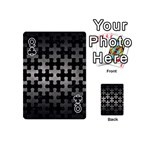 PUZZLE1 BLACK MARBLE & GRAY METAL 1 Playing Cards 54 (Mini)  Front - ClubQ