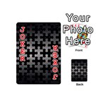 PUZZLE1 BLACK MARBLE & GRAY METAL 1 Playing Cards 54 (Mini)  Front - Joker2