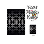 PUZZLE1 BLACK MARBLE & GRAY METAL 1 Playing Cards 54 (Mini)  Back