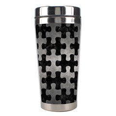 Puzzle1 Black Marble & Gray Metal 1 Stainless Steel Travel Tumblers by trendistuff