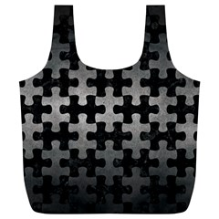 Puzzle1 Black Marble & Gray Metal 1 Full Print Recycle Bags (l)  by trendistuff