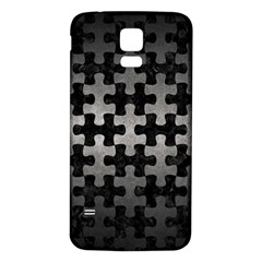 Puzzle1 Black Marble & Gray Metal 1 Samsung Galaxy S5 Back Case (white) by trendistuff