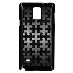 Puzzle1 Black Marble & Gray Metal 1 Samsung Galaxy Note 4 Case (black) by trendistuff
