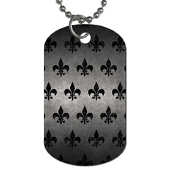 Royal1 Black Marble & Gray Metal 1 Dog Tag (two Sides) by trendistuff