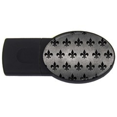 Royal1 Black Marble & Gray Metal 1 Usb Flash Drive Oval (4 Gb) by trendistuff