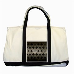 Royal1 Black Marble & Gray Metal 1 Two Tone Tote Bag by trendistuff