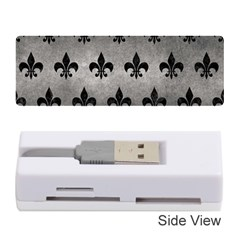 Royal1 Black Marble & Gray Metal 1 Memory Card Reader (stick)  by trendistuff