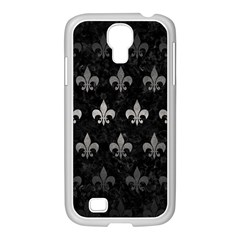 Royal1 Black Marble & Gray Metal 1 (r) Samsung Galaxy S4 I9500/ I9505 Case (white) by trendistuff
