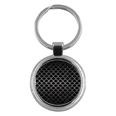 Scales1 Black Marble & Gray Metal 1 Key Chains (round)  by trendistuff