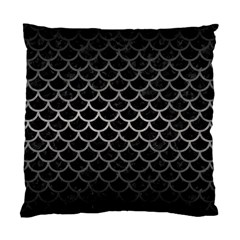 Scales1 Black Marble & Gray Metal 1 Standard Cushion Case (one Side) by trendistuff