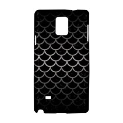 Scales1 Black Marble & Gray Metal 1 Samsung Galaxy Note 4 Hardshell Case by trendistuff