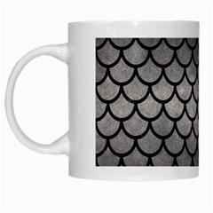 Scales1 Black Marble & Gray Metal 1 (r) White Mugs by trendistuff