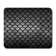 Scales1 Black Marble & Gray Metal 1 (r) Large Mousepads by trendistuff