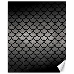 Scales1 Black Marble & Gray Metal 1 (r) Canvas 16  X 20
