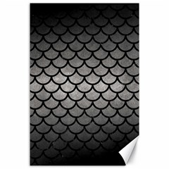 Scales1 Black Marble & Gray Metal 1 (r) Canvas 24  X 36