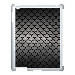Scales1 Black Marble & Gray Metal 1 (r) Apple Ipad 3/4 Case (white) by trendistuff