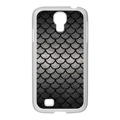 Scales1 Black Marble & Gray Metal 1 (r) Samsung Galaxy S4 I9500/ I9505 Case (white) by trendistuff