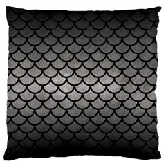 Scales1 Black Marble & Gray Metal 1 (r) Standard Flano Cushion Case (two Sides) by trendistuff
