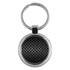 Scales2 Black Marble & Gray Metal 1 Key Chains (round)  by trendistuff