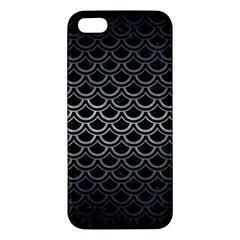 Scales2 Black Marble & Gray Metal 1 Apple Iphone 5 Premium Hardshell Case by trendistuff
