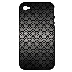 Scales2 Black Marble & Gray Metal 1 (r) Apple Iphone 4/4s Hardshell Case (pc+silicone) by trendistuff