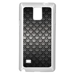 Scales2 Black Marble & Gray Metal 1 (r) Samsung Galaxy Note 4 Case (white) by trendistuff
