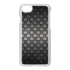 Scales2 Black Marble & Gray Metal 1 (r) Apple Iphone 7 Seamless Case (white)
