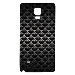 Scales3 Black Marble & Gray Metal 1 Galaxy Note 4 Back Case