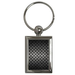 Scales3 Black Marble & Gray Metal 1 (r) Key Chains (rectangle)  by trendistuff