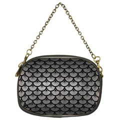 Scales3 Black Marble & Gray Metal 1 (r) Chain Purses (one Side)  by trendistuff