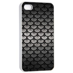 Scales3 Black Marble & Gray Metal 1 (r) Apple Iphone 4/4s Seamless Case (white) by trendistuff
