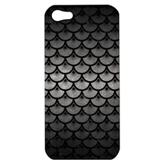 Scales3 Black Marble & Gray Metal 1 (r) Apple Iphone 5 Hardshell Case by trendistuff