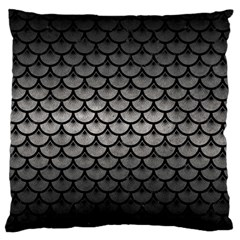 Scales3 Black Marble & Gray Metal 1 (r) Large Flano Cushion Case (two Sides) by trendistuff