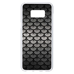 Scales3 Black Marble & Gray Metal 1 (r) Samsung Galaxy S8 Plus White Seamless Case by trendistuff