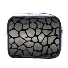 Skin1 Black Marble & Gray Metal 1 Mini Toiletries Bags by trendistuff