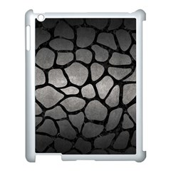 Skin1 Black Marble & Gray Metal 1 Apple Ipad 3/4 Case (white) by trendistuff